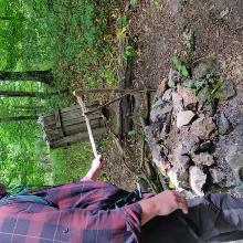 bogrács állvány a Csikling várnál