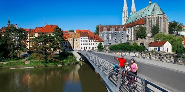 Altstadtbrücke mit Blick auf Peterskirche, Görlitz