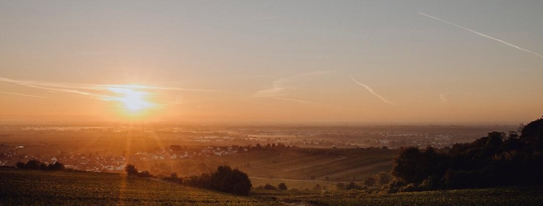 Rheinebene bei Sonnenaufgang