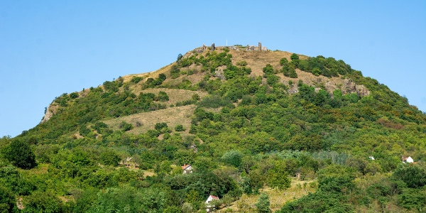 Csobánc Hill with the castle ruins
