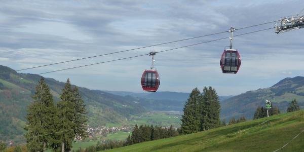 Hündlebahn mit Blick zum Alpsee
