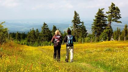 Wandern auf dem Kamm in Oberwiesenthal