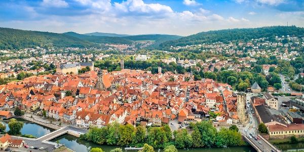 Blick auf die Altstadt von Hann. Münden