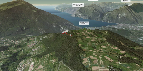 mountain biking trail at Lake Garda: Naranch Trail