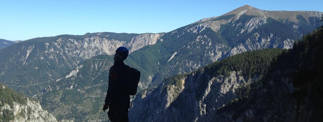 Fast am Ende des Steigs - Blick in Richtung Höllental