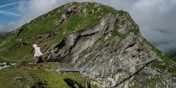 Hängebrücke Punt la Greina