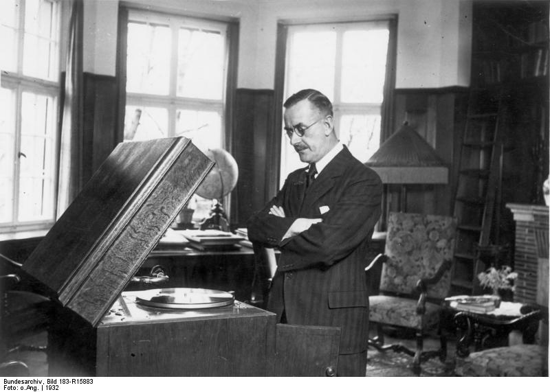 Thomas Mann in seiner Villa
