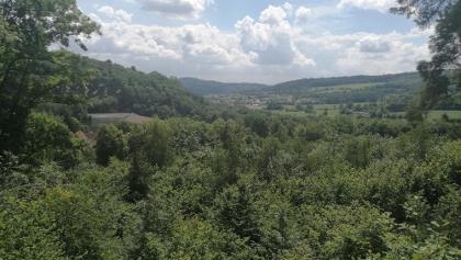 Blick vom Ulmtalweg in Richtung Talsperre