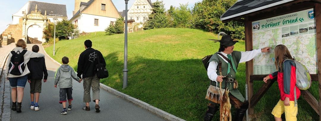 Aufstieg zur Burg Scharfenstein