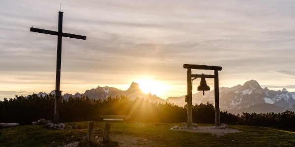 Sonnenaufgang am Gipfel