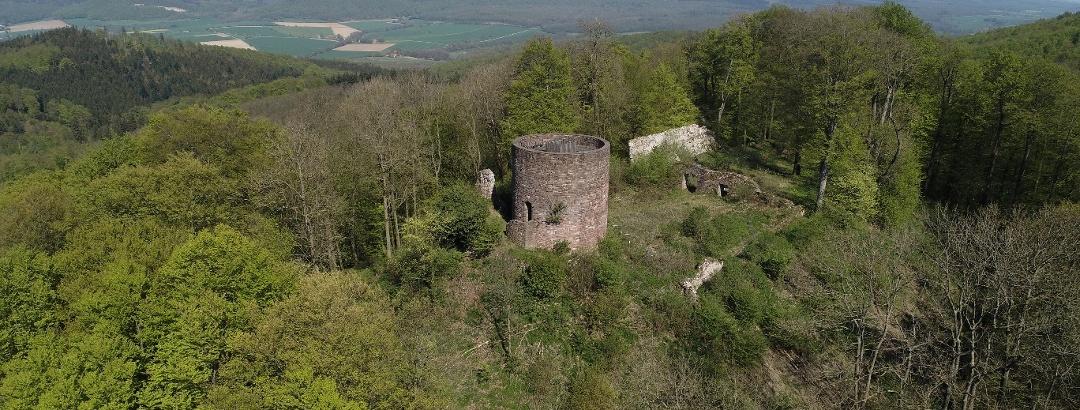 Luftaufnahme Burgruine Homburg