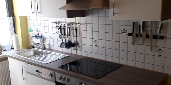 Voll eingerichtete Küche
