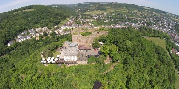 Ruine Kyburg mit Restaurant