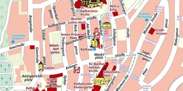 Stadtplan Oppenheim