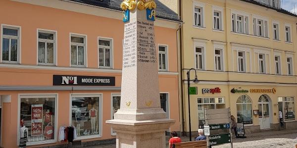 Kursächsische Postmeilensäule Altmarkt Auerbach/Vogtland