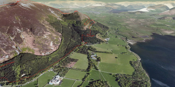 hike in Allerdale: Dodd, Carl Side, Long Side and Ullock Pike Round Route