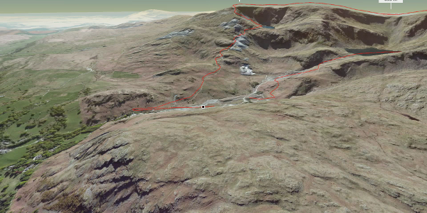 hike in South Lakeland: Swirl How, Brim Fell and The Old Man of Coniston Round Route
