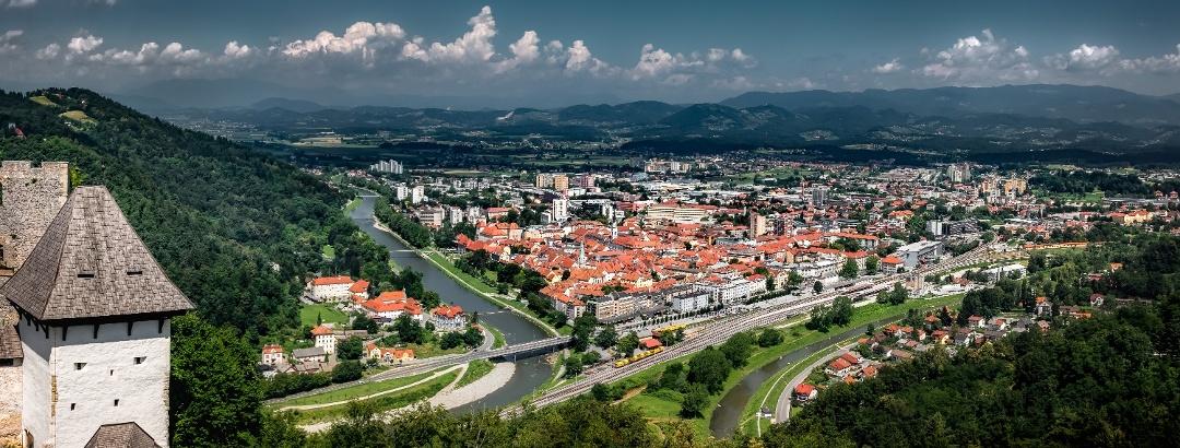 Blick über Celje