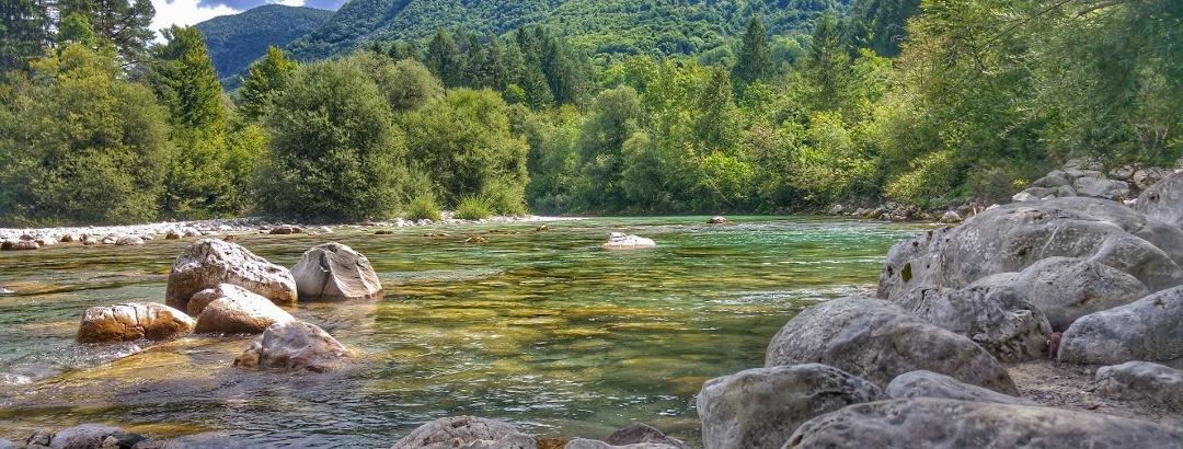 Landscape in the Soča valley