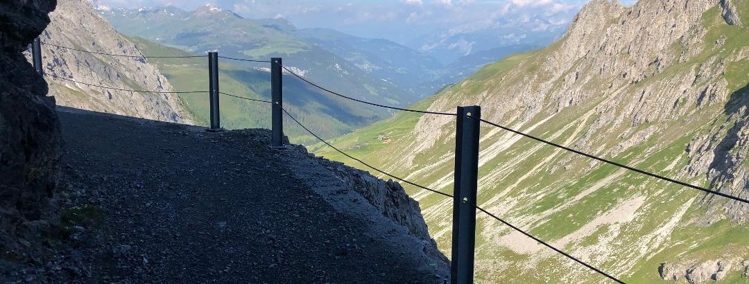 Blick vom Felsenweg Rtg. Schanfigg