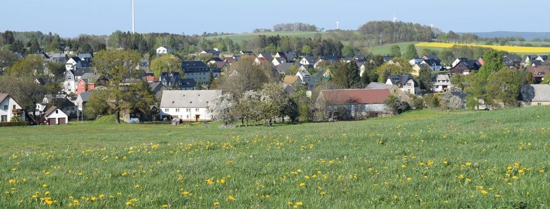 Blick auf den Amtsberger Ortsteil Weißbach