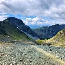 Weissfluhjoch Richtung Felsenweg