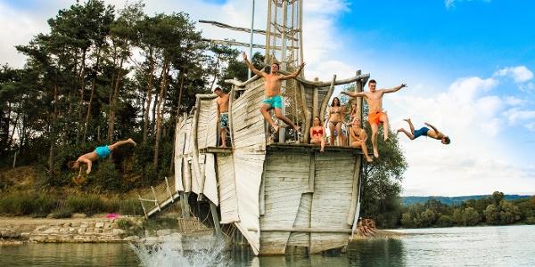 Badevergnügen am Salemer Schlossee
