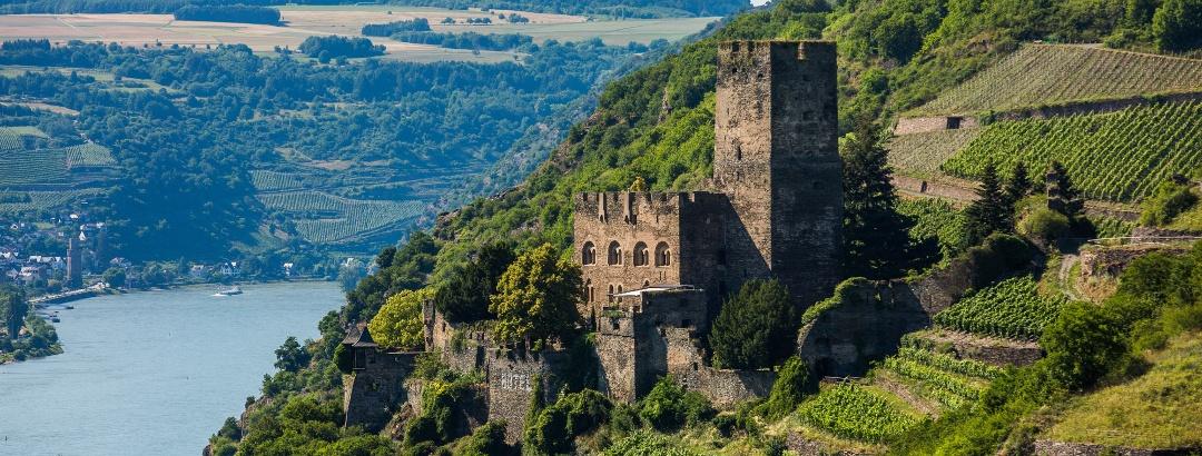 Blick auf Burg Gutenfels