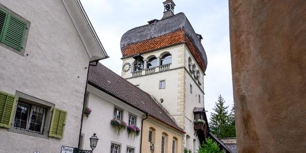 Oberstadt Bregenz mit Martinsturm und Martinskapelle