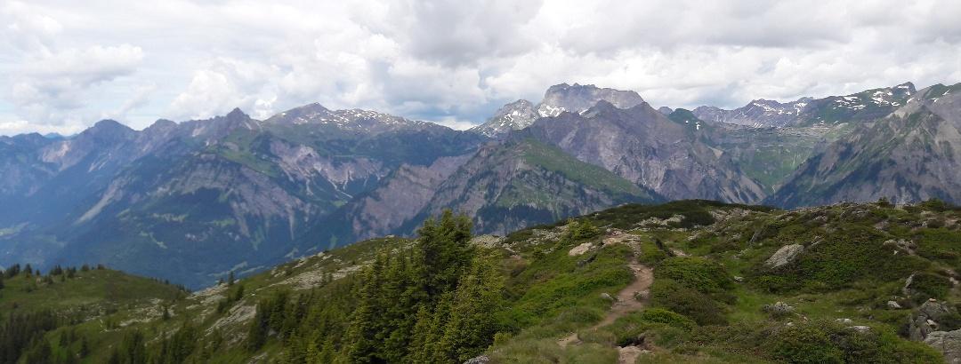 Blick Richtung Rote Wand/Lechquellengebirge