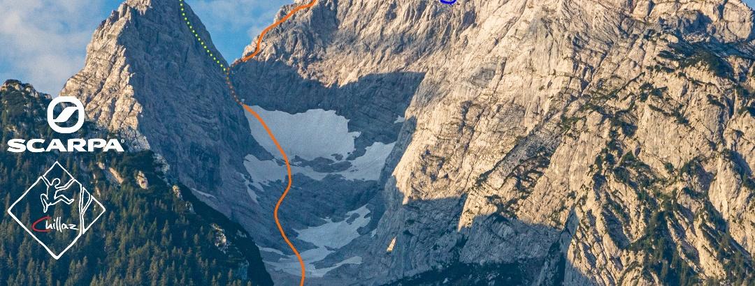 Übersichtsbild Blaueis - Hochtour auf den Hochkalter - Topo