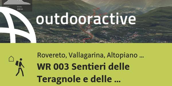 Trekking in Rovereto, Vallagarina, Altopiano di Brentonico: WR 003 Sentieri ...