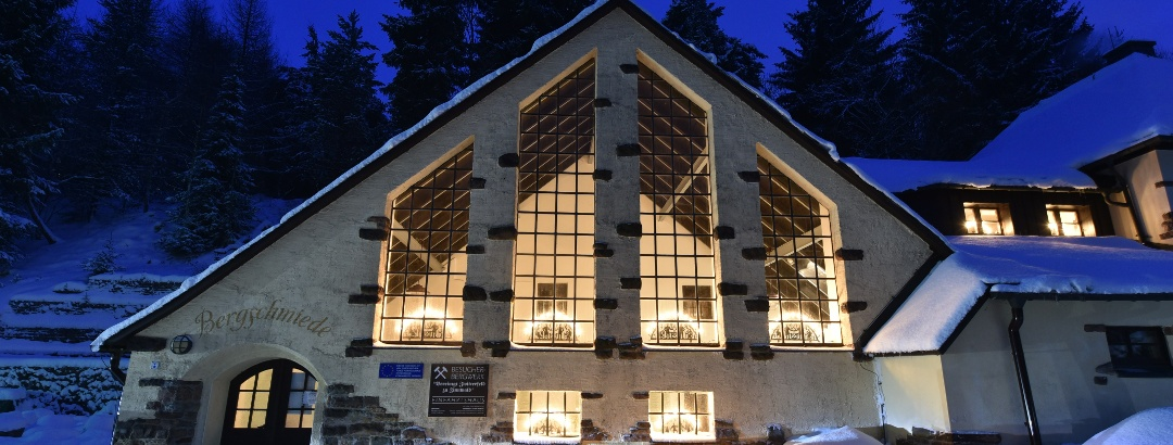 Besucherbergwerk Zinnwald winterlich