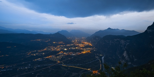 La valle dell'Adige da Fai della Paganella