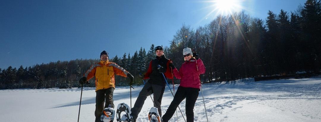 Schneeschuhwandern in der Urlaubsregion Altenberg
