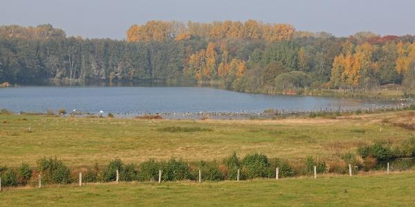 Blick in das Reservebecken