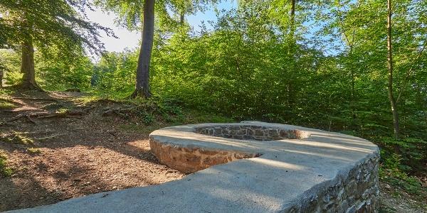 Im Gelände sind noch einige Fundamente der Wittekindsburg erkennbar