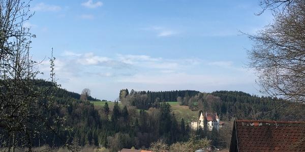 Blick von Eglofs aus das Schloss Syrgenstein