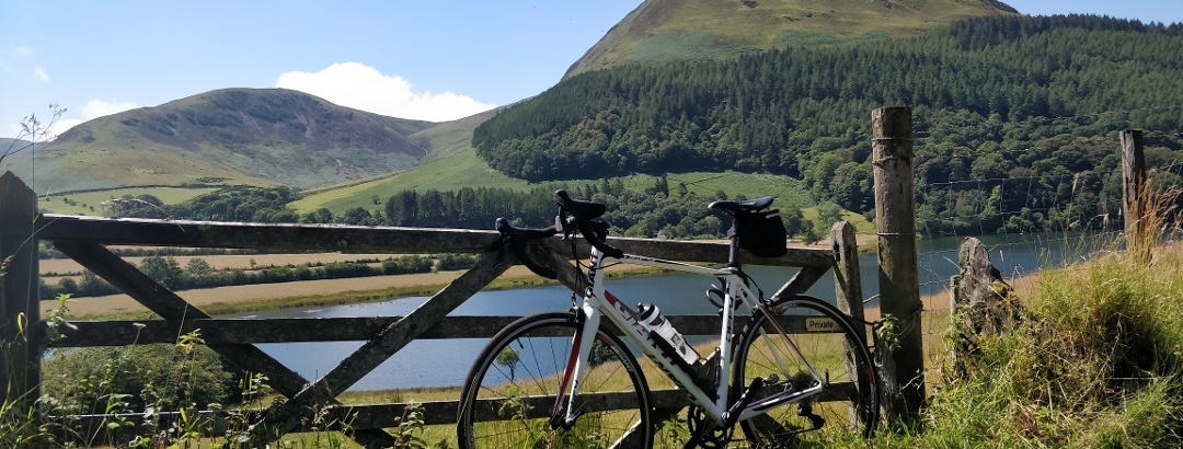 Lake District provides a constant stunning backdrop to the early stages of the C2C Cycle Route.