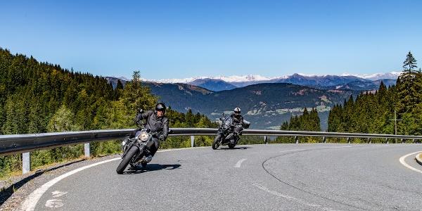 Auffahrt zum Nassfeld Pass