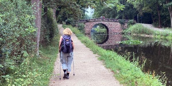 Unterwegs am Alten Kanal
