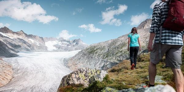 Wanderung entlang des Rhonegletschers