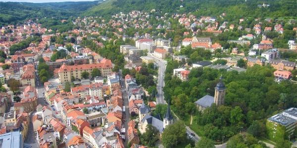 Schleifenroute - Jena von oben
