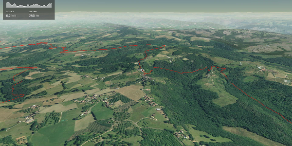 parcours VTT - Corrèze: Circuit n°18 : Circuit des sentes
