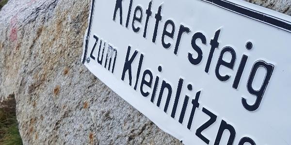 Zustieg Klettersteig Kleinlitzner