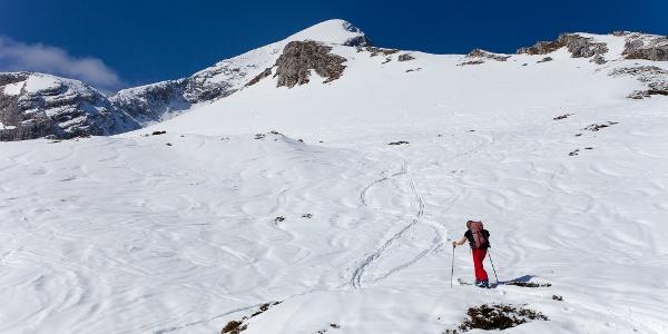 Aufstieg über den Bernadeinrücken