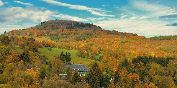 Urlaubsregion Altenberg  im Herbst - Geisingberg