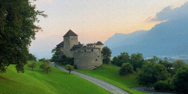 Block vom Quadretschweg zu Schloss Vaduz