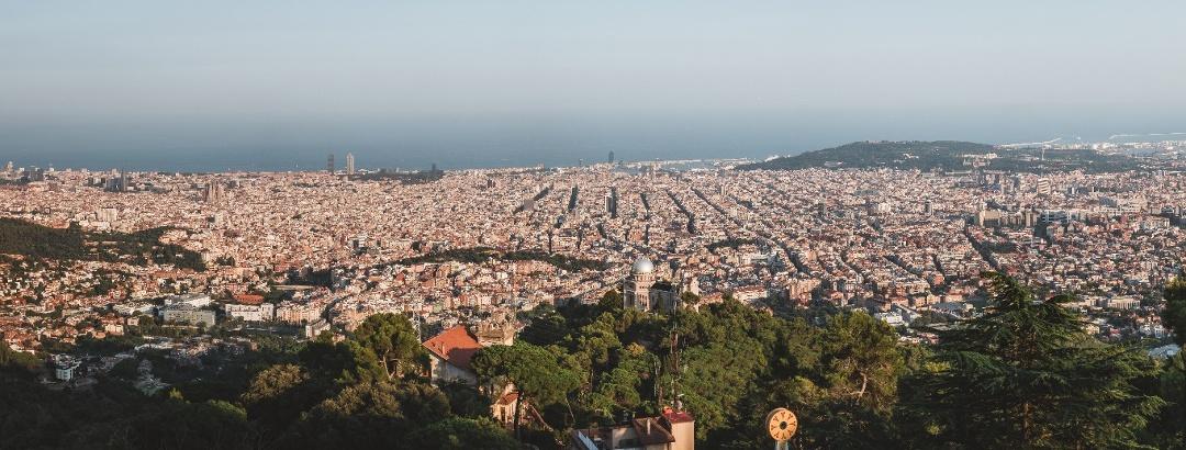 Aussicht über Barcelona vom Tibidabo