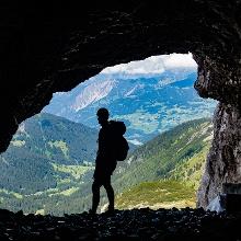 Blick aus der Gauablickhöhle heraus, die auf jeden Fall das Highlight der Tour darstellt.